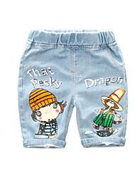 abordables -Enfants Garçon Actif / Basique Imprimé Imprimé Coton Jeans Bleu