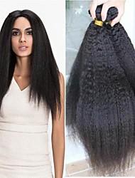 Недорогие -6 Связок Бразильские волосы Естественные прямые человеческие волосы Remy Человека ткет Волосы Пучок волос One Pack Solution 8-28 дюймовый Естественный цвет Ткет человеческих волос