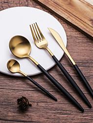 Недорогие -посуда 4шт Экологичные Heatproof Новый дизайн Нержавеющая сталь Столовая вилка Столовый нож Дессертная ложка