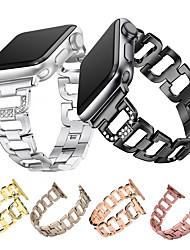 Недорогие -Ремешок для часов для Apple Watch Series 4/3/2/1 Apple Дизайн украшения Металл Повязка на запястье