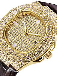 Недорогие -Муж. Нарядные часы Кварцевый Кожа Черный / Коричневый 30 m Новый дизайн Повседневные часы Аналоговый На каждый день Мода - Черный Кофейный Один год Срок службы батареи