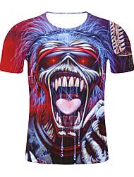 저렴한 -남성용 기하학 / 3D 티셔츠 레인보우 XXL