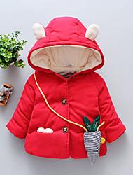 abordables -Bébé Fille Actif / Basique Couleur Pleine / Mosaïque Mosaïque Normal Coton Rembourré Coton Rouge