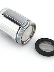 رخيصةأون -3 اللون rgb التحكم في درجة الحرارة أدى ضوء توهج صنبور دش صنبور ماء الرأس