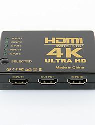 Недорогие -инфракрасный 5 вход и 1 выход HDMI HDMI видео коммутатор с дистанционным управлением