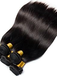 Недорогие -6 Связок Малазийские волосы Прямой 100% Remy Hair Weave Bundles Человека ткет Волосы Пучок волос One Pack Solution 8-28 дюймовый Естественный цвет Ткет человеческих волос