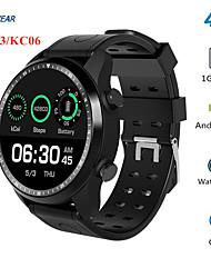 Недорогие -KING-WEAR® KC06 Мужчина женщина Смарт Часы Android iOS WIFI 3G 4G Водонепроницаемый Сенсорный экран Пульсомер Измерение кровяного давления Спорт
