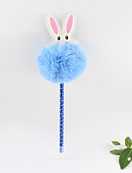 Χαμηλού Κόστους -πλαστικό μπουκάλι κουνελιού μπουκάλι μπλε μολύβι μολύβι μολύβι μπάλα δώρα σκάφη για τα παιδιά εκμάθηση γραφείου χαρτικά
