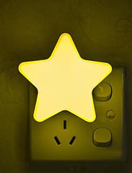Недорогие -1 шт. Сенсорное управление мини-звезда луна светодиодный ночной свет для темной ночи детская спальня прикроватная лампа ес / сша подключить ребенка спальный свет 220-240 В