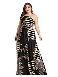 Χαμηλού Κόστους -γυναικείος maxi χαλαρός λουρί φόρεμα swing μαύρο s m l xl