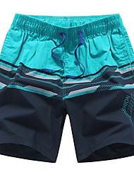 abordables -Hombre Deportivo Shorts Pantalones - Multicolor Azul Piscina