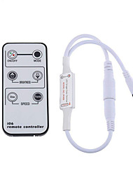 voordelige -kwb 1pc mini-afstandsbediening voor enkele kleuren led-strookverlichting draadloze ir-dimmer voor 5-24 v dc ledstrips