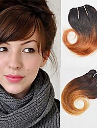 voordelige -4 bundels Braziliaans haar Golvend Echt haar Ombre 8 inch(es) Menselijk haar weeft Extensions van echt haar