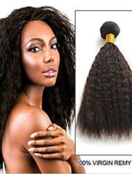 저렴한 -번들 6 개 브라질리언 헤어 곱슬머리 스트레이트 레미 헤어 인간의 머리 직조 번들 헤어 한 팩 솔루션 8-28inch 자연 색상 인간의 머리 되죠 오더 프리 섹시 레이디 두꺼운 인간의 머리카락 확장 여성용 / 처리되지 않은