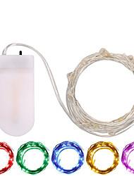 Недорогие -3M Гирлянды 30 светодиоды SMD 0603 Тёплый белый / Белый / Разные цвета Водонепроницаемый / Для вечеринок / Декоративная Аккумуляторы 1шт