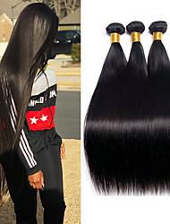 ราคาถูก -3 Bundles / กลุ่ม ผมบราซิล Straight ผมเวอร์จิน 100% Remy Hair Weave Bundles มัดผม ผมต่อแท้ ผมผ้าที่มีการปิด 8-28 inch สีธรรมชาติ สานเส้นผมมนุษย์ ง่ายต่อการพกพา การแต่งกายที่ง่าย คุณภาพที่ดีที่สุด