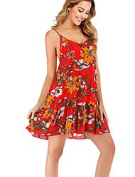 お買い得  -女性用 ボヘミアン エレガント シース ドレス 幾何学模様 膝上