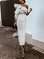 preiswerte -Damen Street Schick Anspruchsvoll Etuikleid Kleid - Rückenfrei Quaste, Punkt Maxi