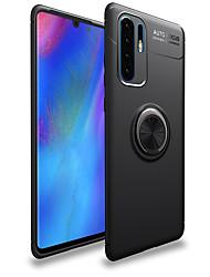 رخيصةأون -غطاء من أجل Huawei هواوي P30 / Huawei P30 Pro حامل الخاتم غطاء خلفي لون سادة ناعم TPU إلى Huawei P20 / Huawei P20 Pro / Huawei P20 lite