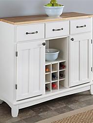 Недорогие -натуральная древесина верхняя кухня остров буфет шкаф винный шкаф в белом