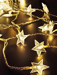 Недорогие -Loende 2 м 20 светодиодов струнные светильники теплый белый / RGB / белый на солнечной энергии рождественский праздник украшение свадьбы украшение партии