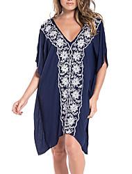 ราคาถูก -สำหรับผู้หญิง พื้นฐาน สีน้ำเงินกรมท่า ผ้าพันผมสตรี รวมด้วย ชุดว่ายน้ำ - รูปเรขาคณิต ขนาดเดียว สีน้ำเงินกรมท่า
