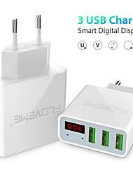 Недорогие -Быстрое зарядное устройство Зарядное устройство USB Евро стандарт QC 3.0 3 USB порта 3 A 100~240 V / DC 5V для Универсальный