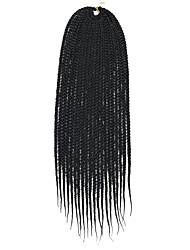 Недорогие -Волосы для кос Прямой Уход за волосами Удлинитель Спиральные плетенки Искусственные волосы 6 шт. косы волос Черный Разноцветный 14-24 дюймовый 24 дюймы 18 дюймы 20 дюймы