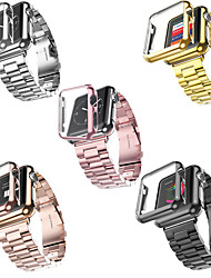 Недорогие -SmartWatch ремешок для Apple Watch серии 4/3/2/1 Apple, современный пряжки из нержавеющей стали ремешок из пластика, чехлы iwatch модный ремешок