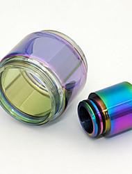 Недорогие -наконечник капельного радуги + удлинить стеклянную трубку для tfv8 baby / tfv8 большой ребенок / tfv12 tfv12 принц / tfv12 принц ребенок