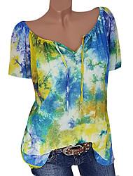 billige -Dame - Geometrisk Basale Skjorte Sort US10