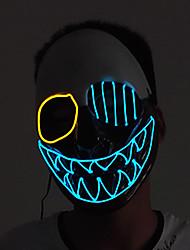 Недорогие -Дьявол Косплэй Kостюмы Маски Маскарад Взрослые Муж. Хэллоуин Рождество Хэллоуин Карнавал Фестиваль / праздник Пластик Кофейный Карнавальные костюмы Контрастных цветов LED