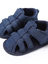 ราคาถูก -เด็กผู้ชาย / เด็กผู้หญิง ผ้าใบ รองเท้าแตะ เด็กวัยหัดเดิน (9m-4ys) สำหรับการเดินครั้งแรก สีเทา / Almond / สีน้ำเงินกรมท่า ฤดูร้อน