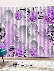 Недорогие -3d цифровая печать на заказ неоклассическая конфиденциальность две панели занавес для ванной комнаты декоративные шторы