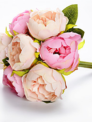 preiswerte -Künstliche Blumen 7 Ast Klassisch Hochzeit Hochzeitsblumen Pfingstrosen Ewige Blumen Tisch-Blumen