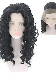 povoljno -Perike s ljudskom kosom Tijelo Wave Stil Srednji dio Lace Front Perika Zlatna Crna Sintentička kosa 26 inch Žene Žene Zlatna Perika Dug Prirodna perika