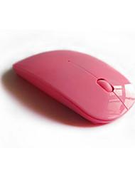 Недорогие -эргономичная изогнутая беспроводная 2,4 ГГц оптическая тонкая мышь белый розовый