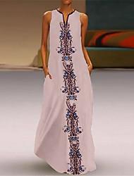 Недорогие -Жен. Туника Платье V-образный вырез Макси
