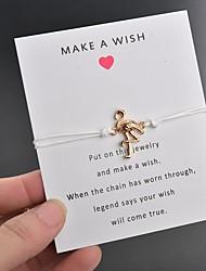 billiga -Dam Enkel slinga Handgjort Link Armband Flamingo Kärlek Hoppas Trendig Armband Smycken Rosa / Ljusblå / Vinröd Till Party Dagligen