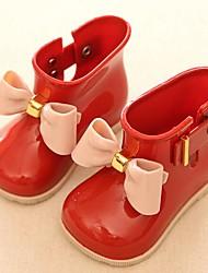 billige -Pige PVC Støvler Små børn (4-7 år) Gummistøvler Sort / Vin / Mandel Forår / Ankelstøvler