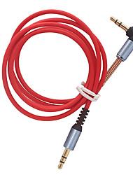 Недорогие -аудио кабель между мужчинами / женщинами 90 градусов под прямым углом к вспомогательному кабелю