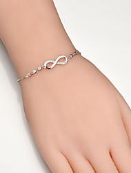 billiga -Dam Syntetisk Diamant Enkel slinga Crystal Armband Kärlek Oändlighet Trendig Armband Smycken Guld / Silver / Rosguld Till Party Dagligen