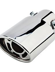 Недорогие -63 мм диаметр входного отверстия из нержавеющей стали выхлопной трубы автомобиля глушитель модифицированная хвостовая часть горла