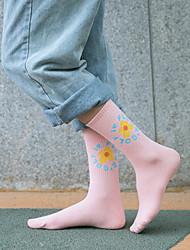 abordables -Mujer Calcetín Medio - Floral / Moda