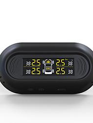 Недорогие -автомобильная система контроля давления в шинах черный беспроводной цифровой жк-дисплей 4 датчика авто безопасности сигнализация шин