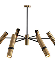 baratos -QINGMING® 6-luz Mini Lustres Luz Ambiente Galvanizar Acabamentos Pintados Metal Estilo Mini 110-120V / 220-240V Branco Quente / Branco Frio
