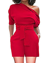abordables -Mujer Rojo Amarillo Wine Mono, Un Color L XL XXL