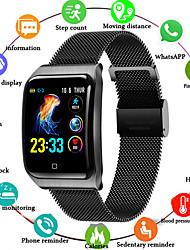 Недорогие -F9 SmartWatch из нержавеющей стали BT Поддержка фитнес-трекер уведомлять / измерения артериального давления спортивные смарт-часы для телефонов Samsung / Apple / Android