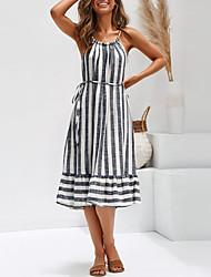 Χαμηλού Κόστους -φόρεμα γυναικείο swing βαμβάκι γκρι βαμβακιού m l xl