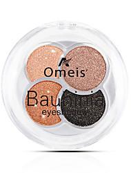 abordables -Make-up For You 4 colores Sombras de Ojos Ojo / Adulto / Diario Fácil de llevar / Mujer / Fácil de Usar / Juvenil Conveniente Maquillaje de Diario / Maquillaje de Fiesta Cosmético / Brillo